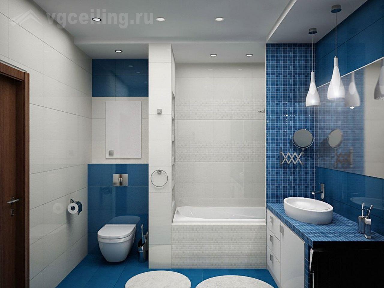 Дизайн ванной комнаты с Душевой кабиной: 14 нюансов и 103